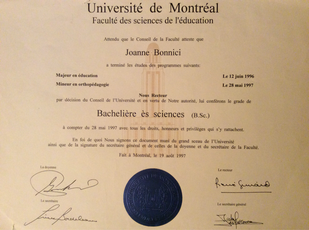 u00c9ducation et qualifications